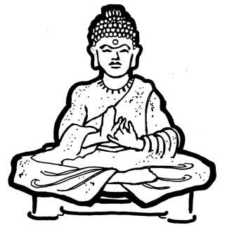 323x330 Buddha Clipart Indian Monk