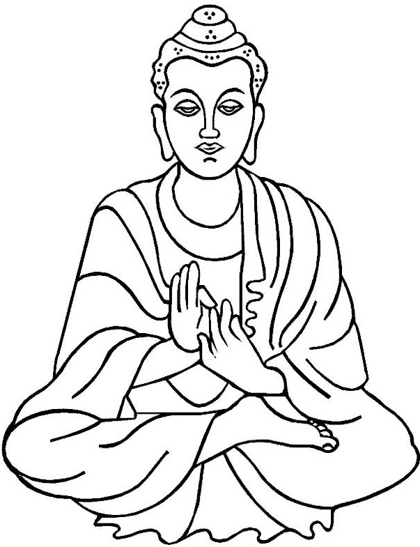 603x785 Buddhist Coloring Pages