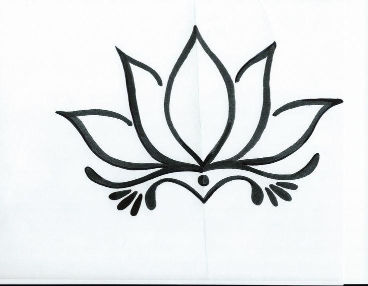 736x571 Collection Of Black White Buddha Lotus Tattoo Design