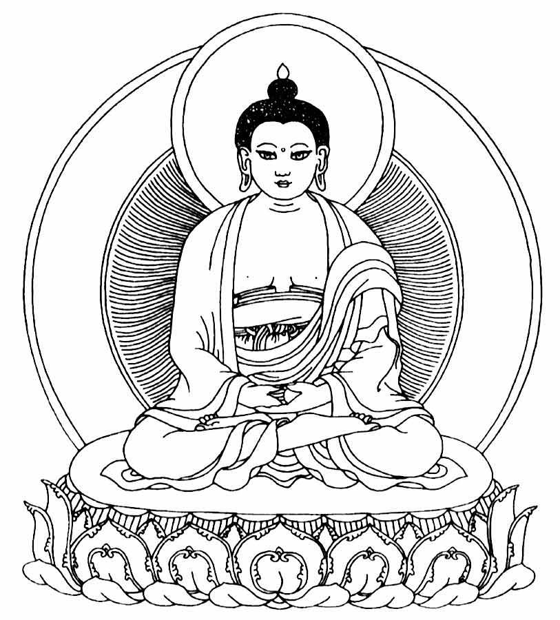 813x900 Mandalas And Symbols To Colour The Buddha Center