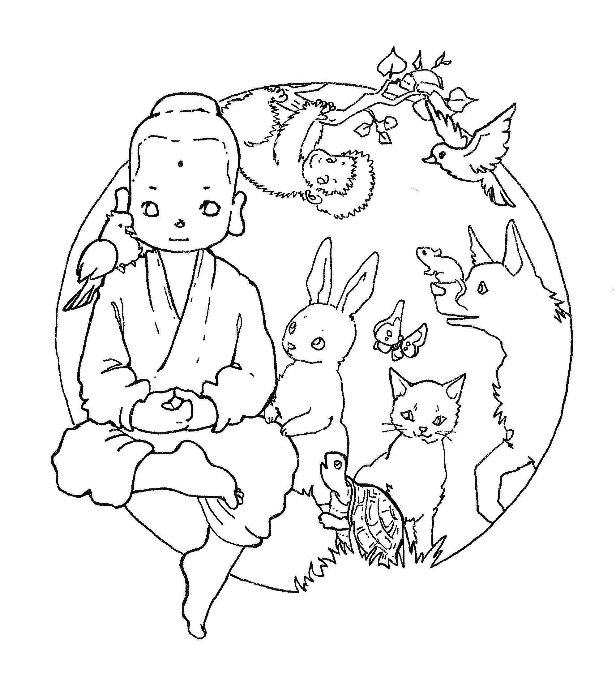 1992x2192 Coloring Buddha Coloring Pages Holiday Mandala Appealing Page