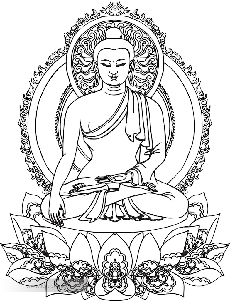 Buddha Face Line Drawing