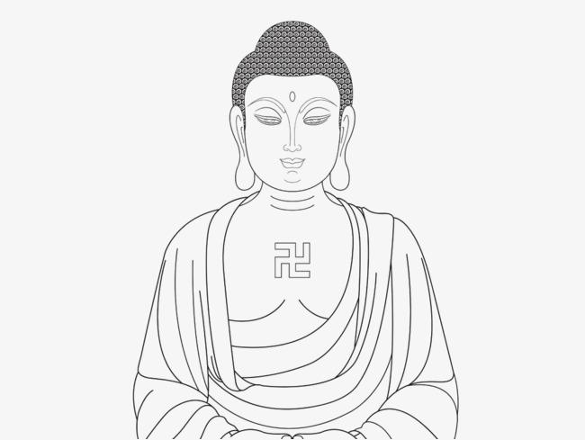 650x489 Shakya Muni Painted Buddha Portrait Bust Line, Shakya Muni