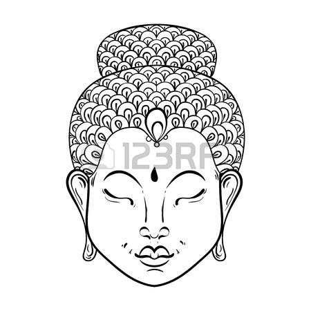 450x450 Vector Artistically Portrait Of Buddha For Ornamental Adult