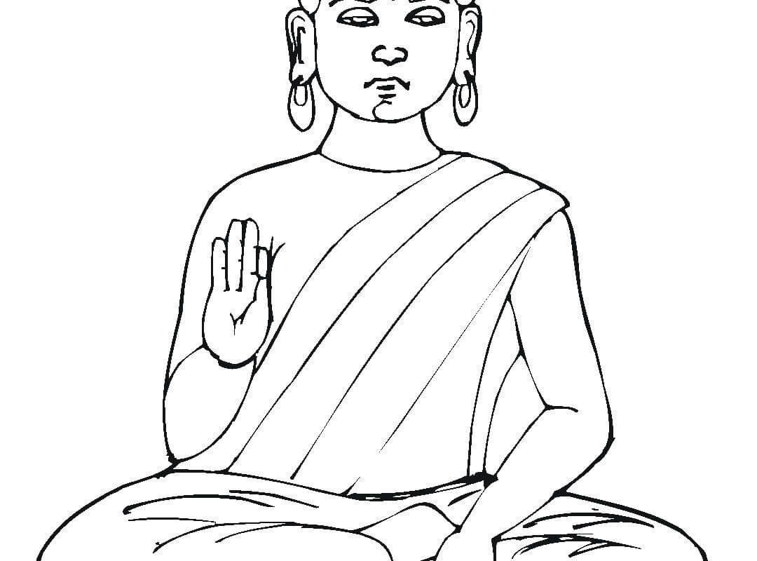 1080x800 Buddhist Art Coloring Book Buddha Stencil Symbols For Kids Page