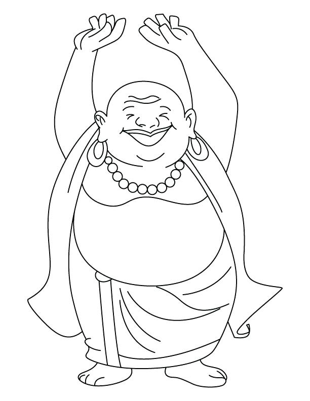 612x792 Buddhist Coloring Pages With Mandala Vector Illustration Vintage