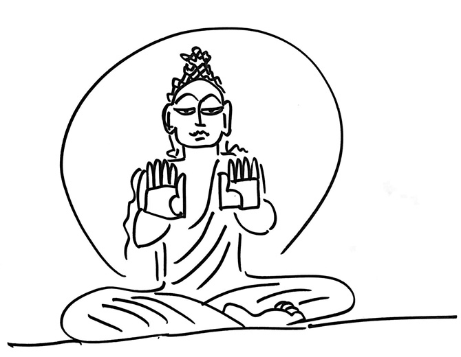 670x520 Devdutt Pattanaik Listening To The Buddha's Hands