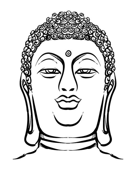 570x713 Esoteric Vintage Hand Draw Vector Illustration. Thai Buddha Head
