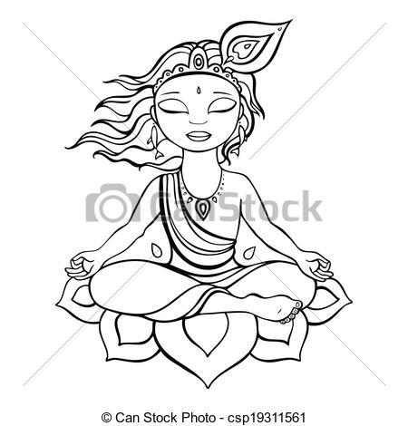 450x470 Resultado De Imagen Para Krishna Dios Hindu Dibujar India Geo
