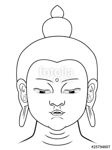 375x500 Buddha Head Vector Stock Image And Royalty Free Vector Files