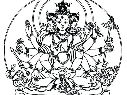 440x330 Buddhist Coloring Pages