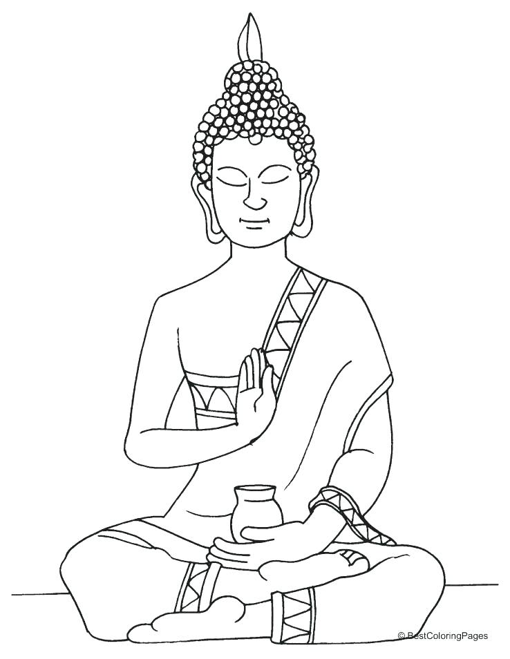 Buddha Outline Drawing At Getdrawings Com Free For