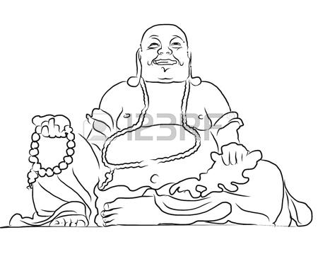 450x359 Maitreya Buddha Outline Vector Drawing, Sitting On Top Of Cam