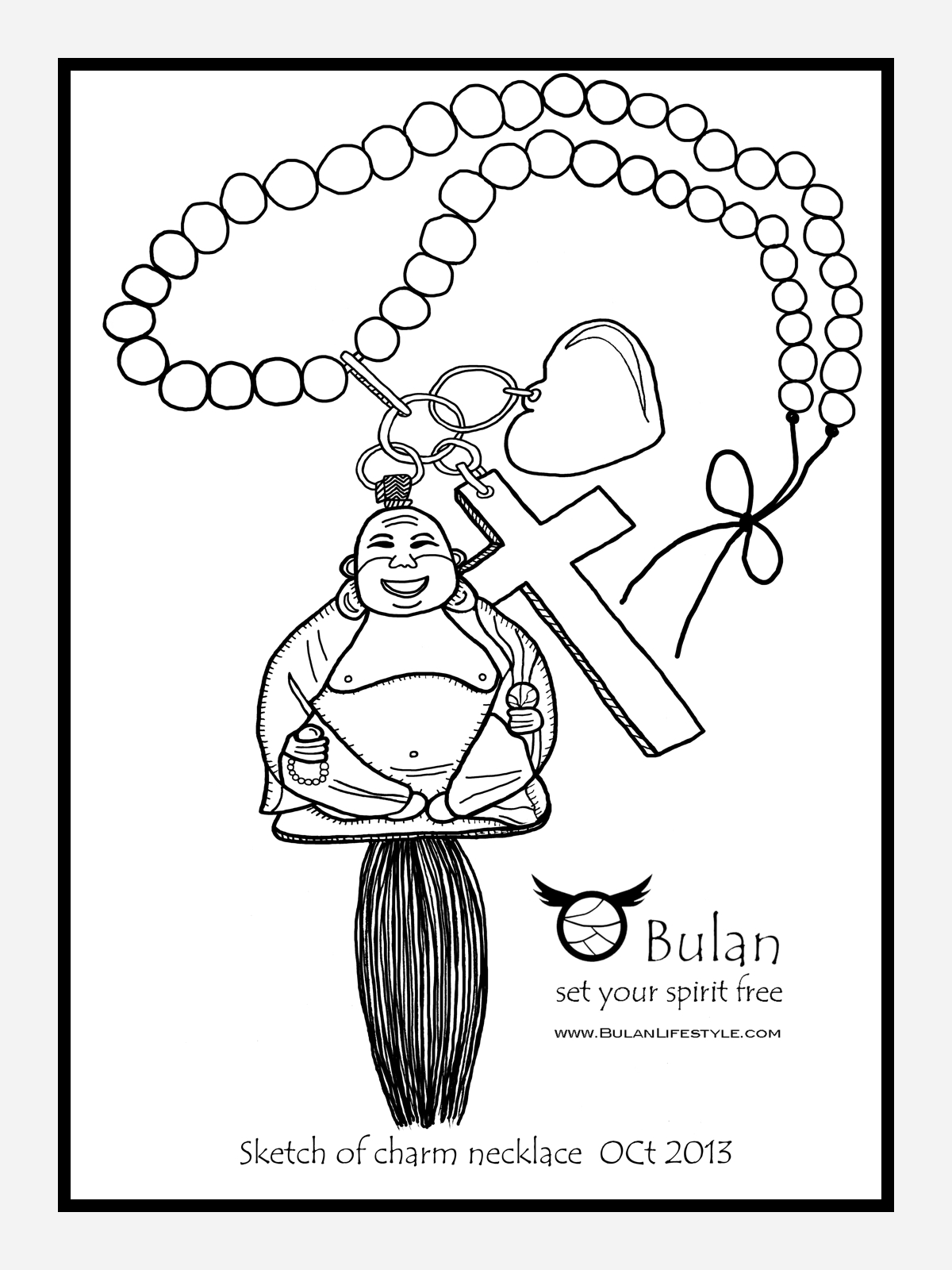 1200x1600 Sketch Of The Day No 195 Happy Buddha Loves God Charm Necklace