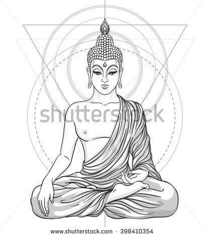 Buddha Statue Drawing