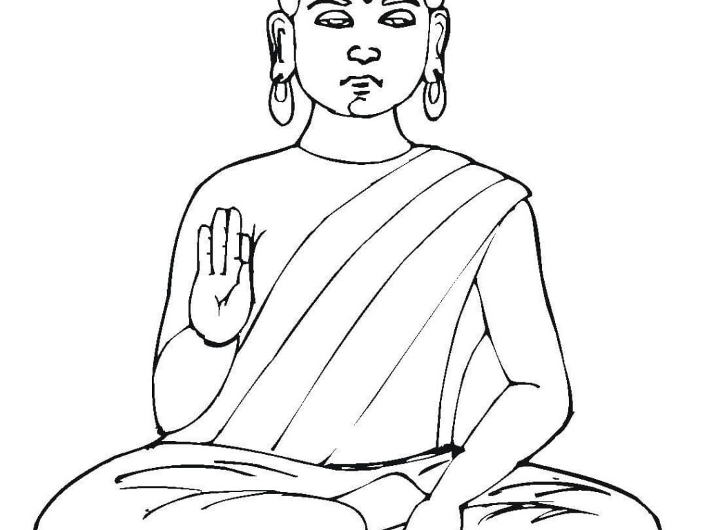 Buddha Statue Drawing at GetDrawings.com | Free for personal use ...