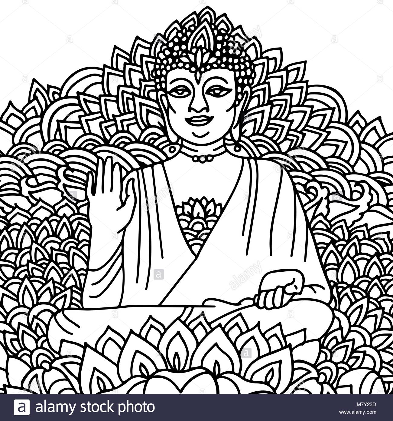 1300x1390 Buddhist Monk Drawing Stock Photos Amp Buddhist Monk Drawing