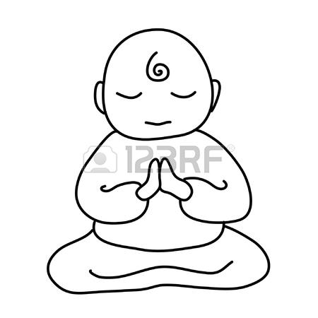 450x450 Buddhist Monk Icon. Cartoon Illustration Of Buddhist Monk Vector