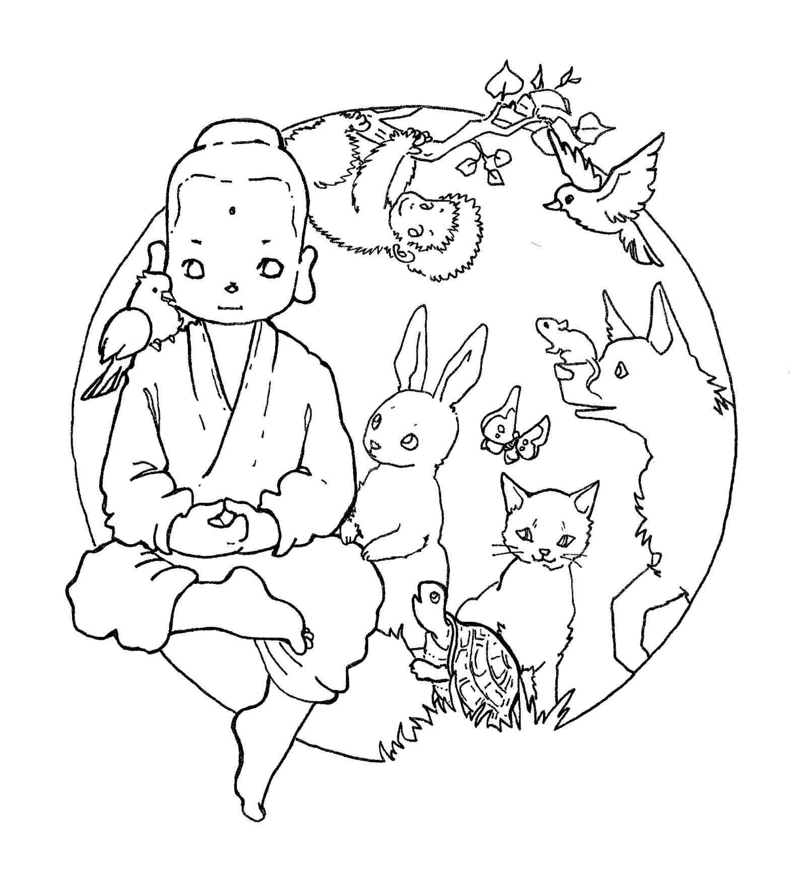 Buddhist Monk Drawing at GetDrawings.com | Free for personal use ...