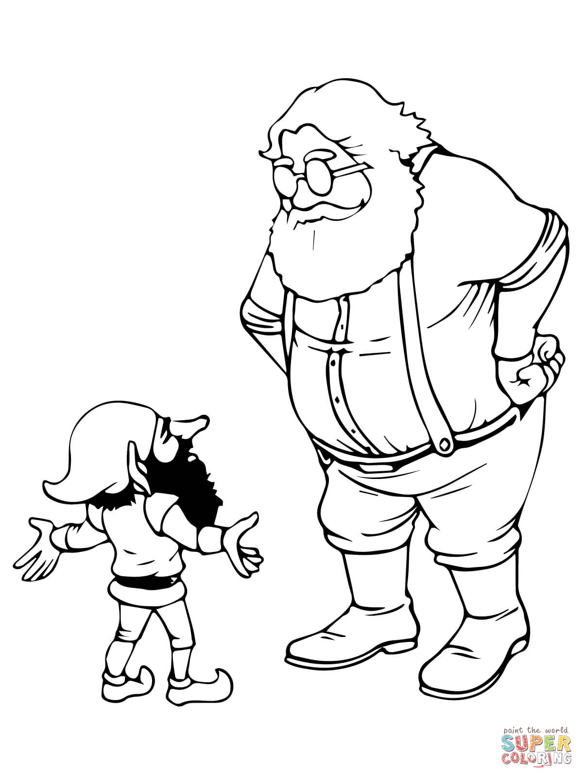 1200x1600 Elf Home Coloring Page Girl Elf Coloring Pages