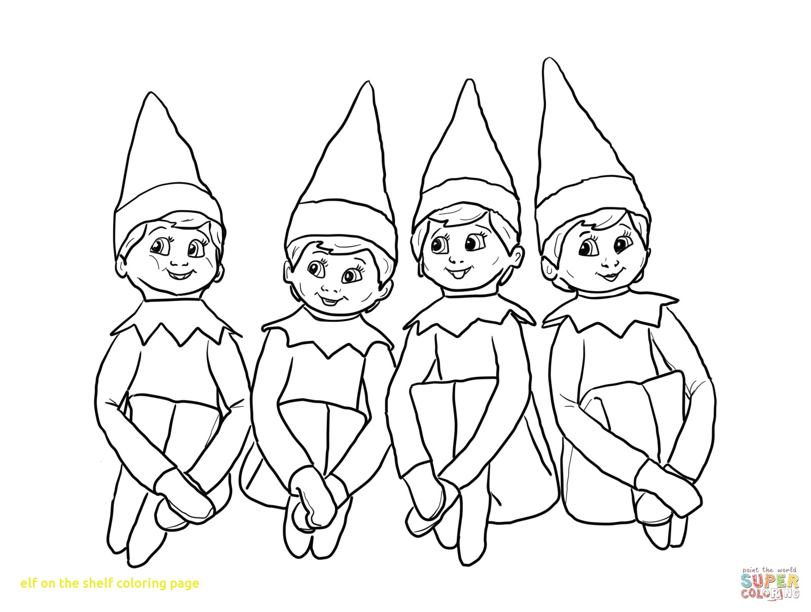 1600x1208 Elf On The Shelf Coloring Pages For Kids General Free To Book