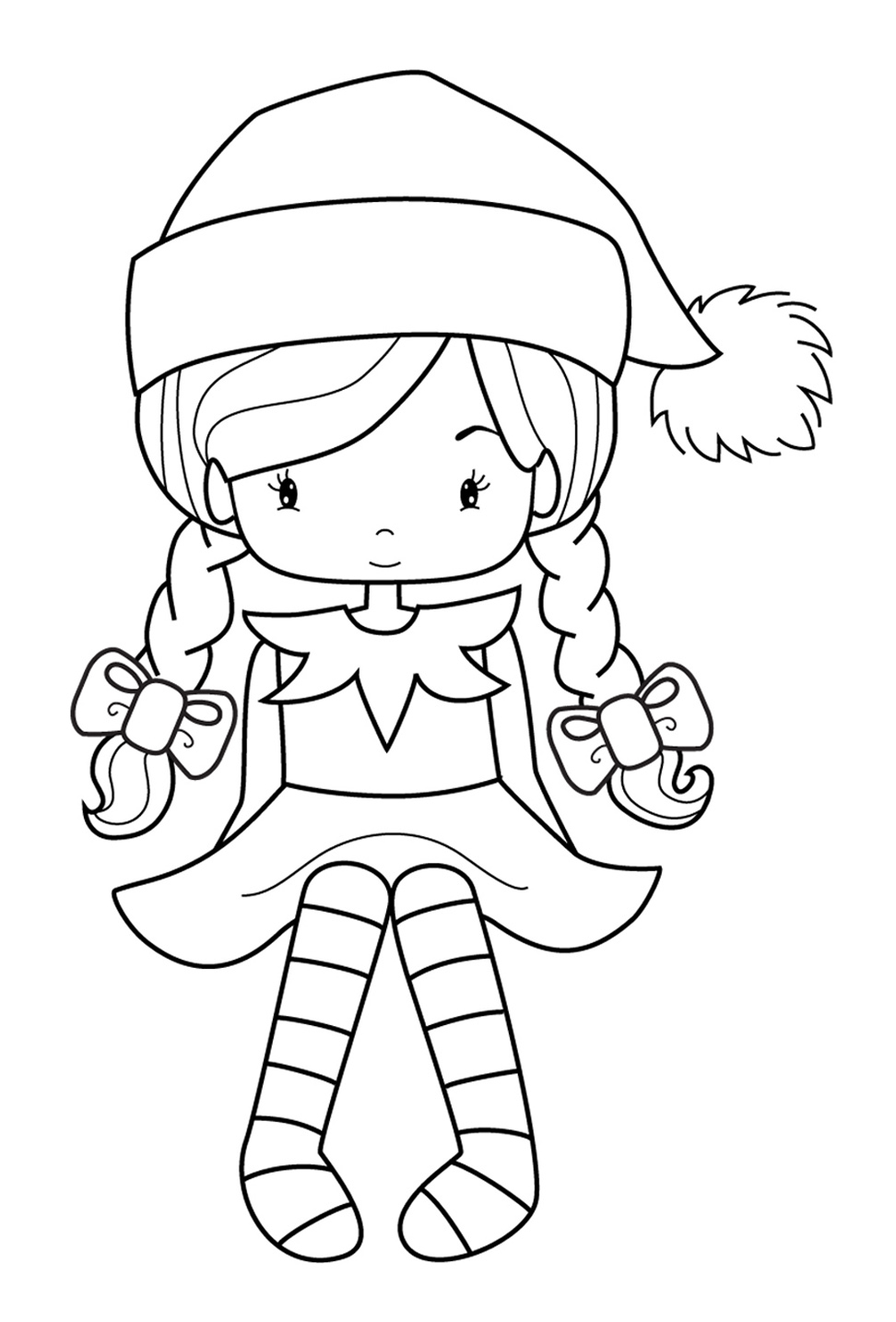 girl elf on a shelf coloring pages | Buddy The Elf Drawing at GetDrawings.com | Free for ...