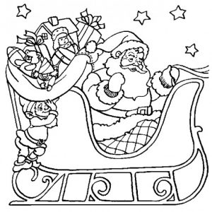 300x300 The Elf Outline Free Clipart