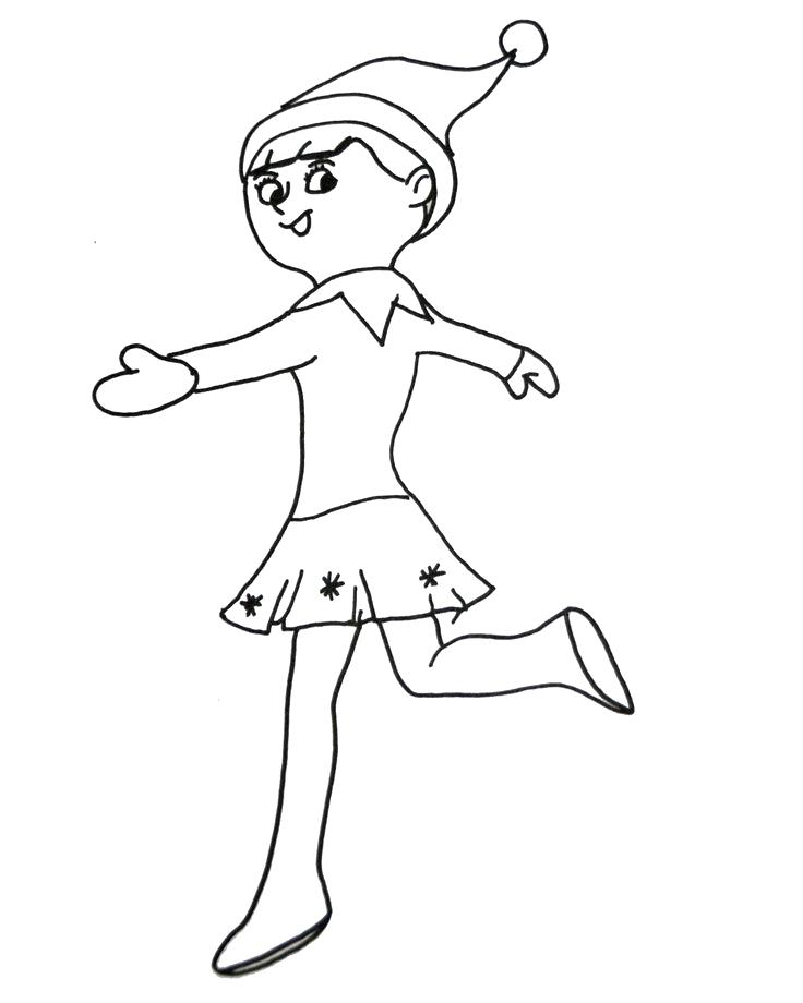 736x920 Buddy The Elf Coloring Pages Elf On The Shelf Coloring Pages