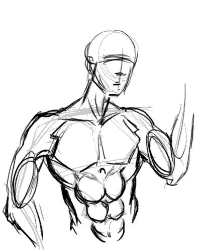 400x500 Ping Art Ping Teo's Art Journal Study Drawing Man Chest