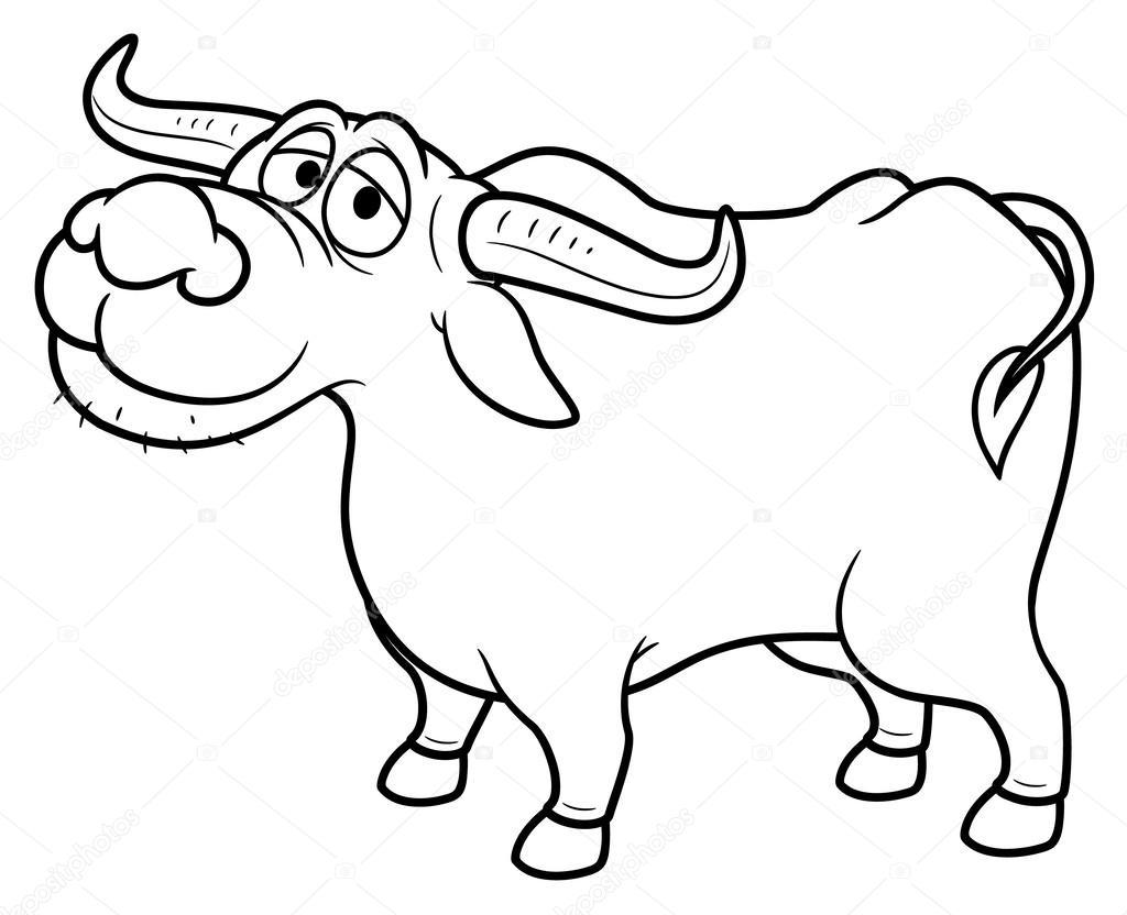 1024x832 Cartoon Buffalo Stock Vector Sararoom