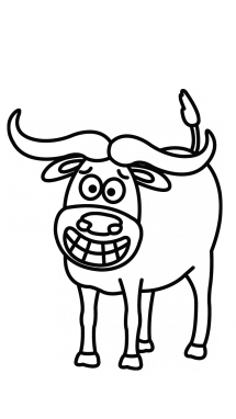 215x382 How To Draw A Water Buffalo, Easy Step By Step Drawing Tutorial