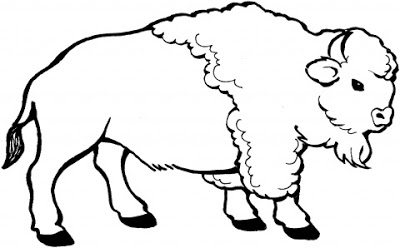 400x248 Animal Coloring To Print Buffalo For Kids Cartoon Coloring Pages