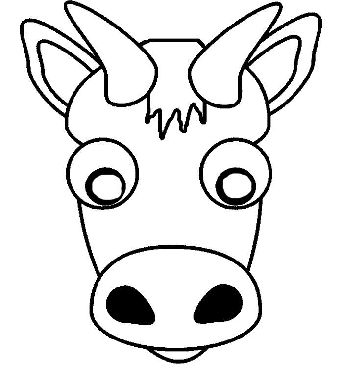 700x744 Animal Mask Template