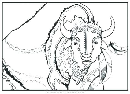 425x309 Buffalo Coloring Pages Nice Bison Coloring Page For Kids Buffalo