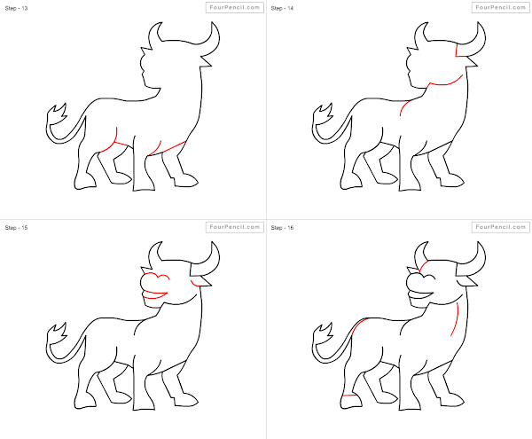 600x495 Fpencil How To Draw Buffalo For Kids Step By Step