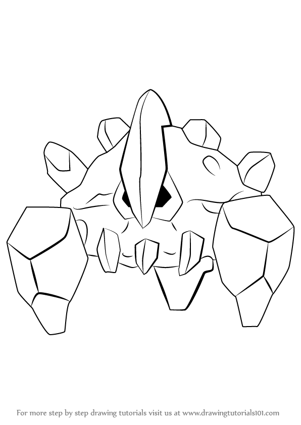 596x842 How To Draw Boldore From Pokemon
