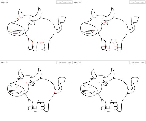 600x495 How Do You Draw A Buffalo How To Draw Buffalo For Kids Step Step