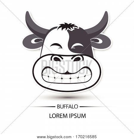 450x470 Buffalo Face Saw Tooth Smile Logo Vector Amp Photo Bigstock