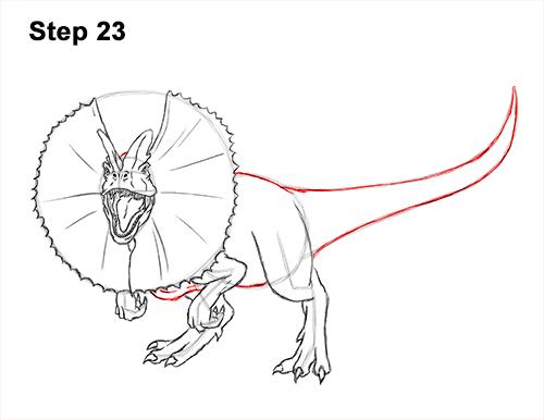 500x386 How To Draw A Dilophosaurus