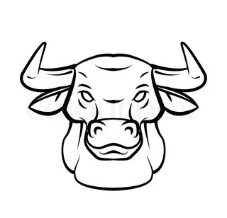 320x308 Pictures Easy Sketch To Bull Face,