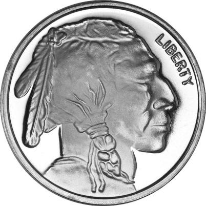 402x402 Oz Buffalo Generic Silver Round