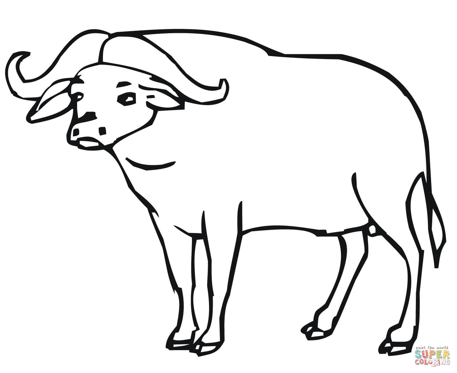 buffalo outline drawing at getdrawings free
