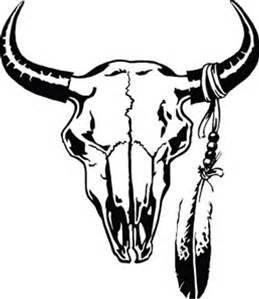 259x299 Buffalo Skull Sketch