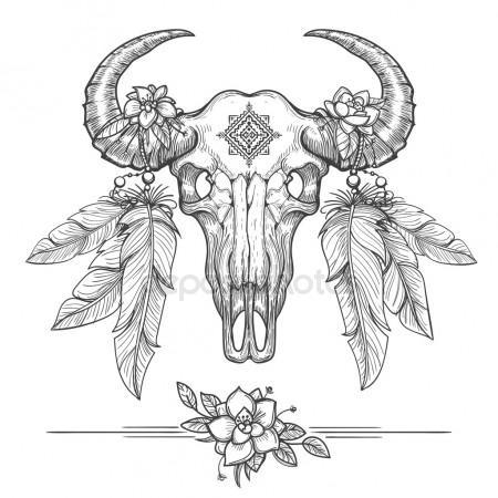 450x450 Buffalo Skull Stock Vectors, Royalty Free Buffalo Skull