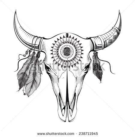 450x457 Bull Skull