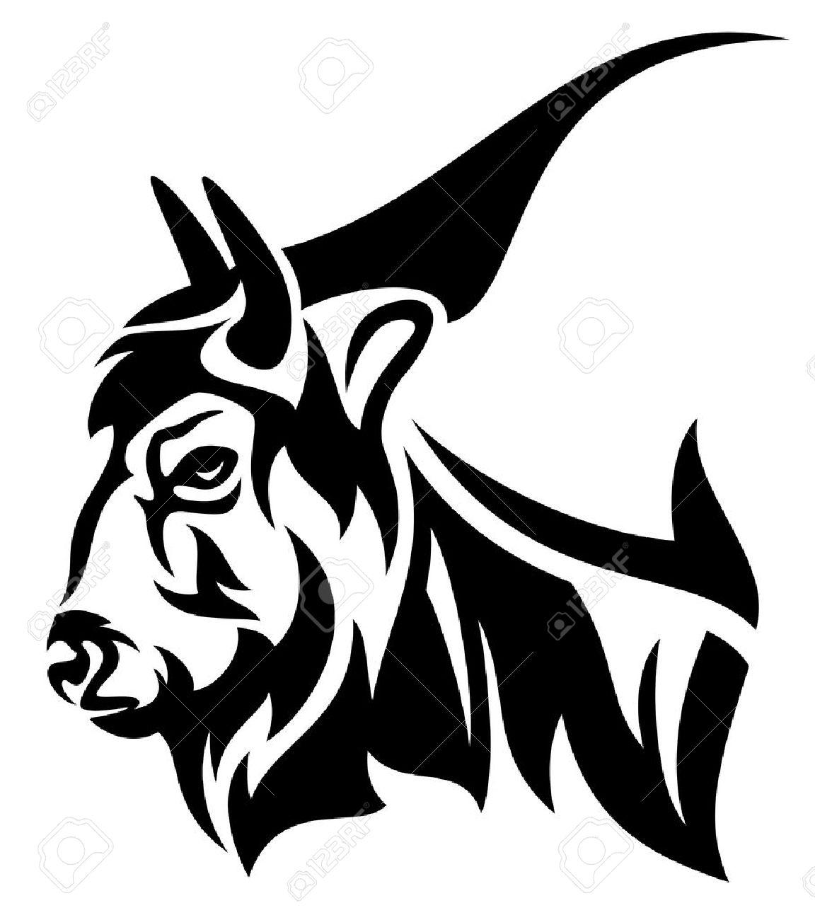 1152x1300 Cape Buffalo Skull Tattoo
