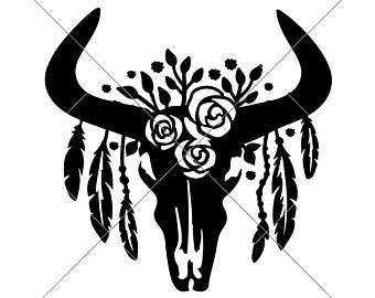 340x270 Cow Skull Etsy