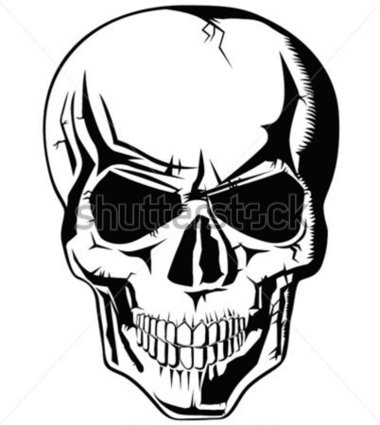 380x425 Evil Skull Clipart