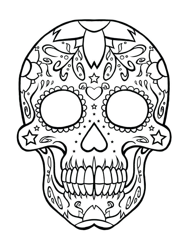736x969 Free Sugar Skull Coloring Pages Wonrful Printable Sugar Skull