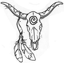 225x221 Skull Rubber Stamp Ebay